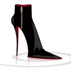 black boot vector image