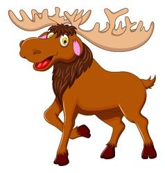 cute moose cartoon for you design vector image vector image
