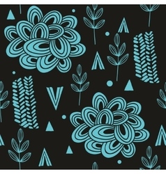 Seamless pattern with abstract nature elements vector image vector image