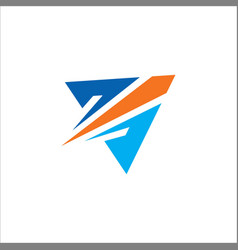 triangle arrow colored logo vector image