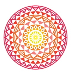 Tribal Aztec geometric pattern or print in circle vector image vector image