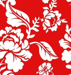 White rose on red background traditional Russian vector image