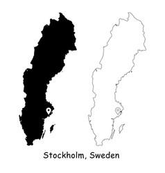 1174 stockholm sweden vector