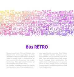 80s retro line design template vector image