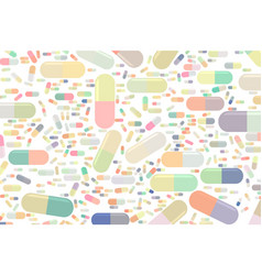 abstract of capsules medicine or pills conceptual vector image