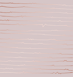 Abstract pattern with rose gold imitation vector