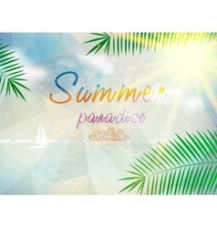 Abstract seaside view poster template vector image