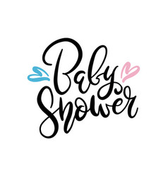 baby shower text isolated on white background vector image