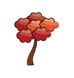 Beauty tree natural japanese vector