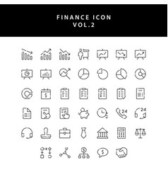 business and finance icon outline set vol 2 vector image