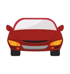 car auto front icon graphic vector image
