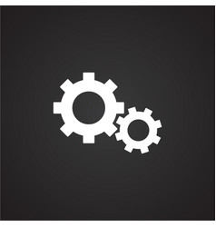 Car gears on black background vector