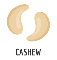 cashew icon flat style vector image
