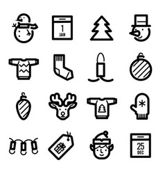 christmas icons - deer discounts and decoration vector image