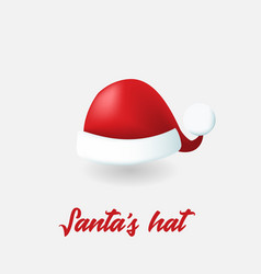 christmas santa hat vector image