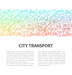 city transport line design template vector image