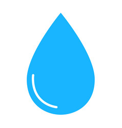 color water drop icon isolated on background mode vector image