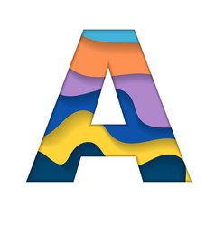 colorful letter a vector image