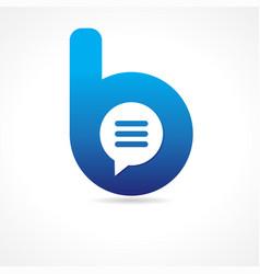 Communication business b logo concept vector