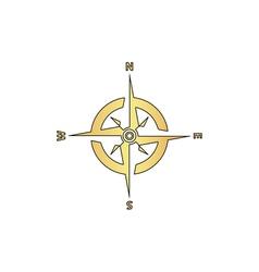 Compass computer symbol vector