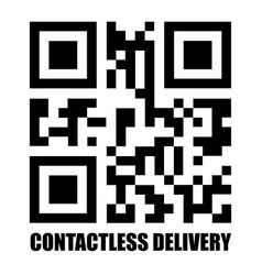 Contactless delivery qr code icon vector