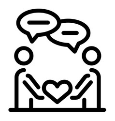 Couple affection icon outline style vector