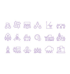 coworking team group icon coordinate working vector image