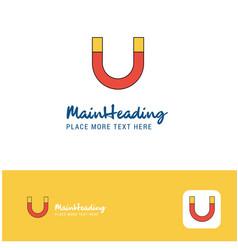 creative magnet logo design flat color logo place vector image