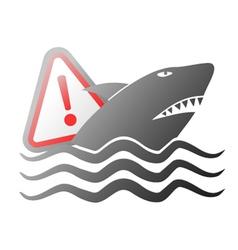 Danger shark sign vector