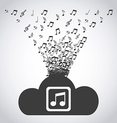 digital music vector image