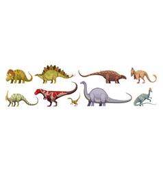 Dinosaurs cartoon set vector
