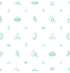 Environment icons pattern seamless white vector