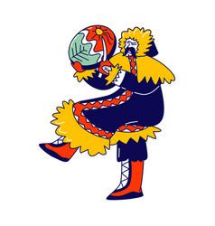 Eskimo shaman character northern minorities vector