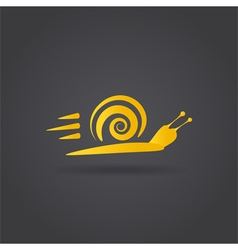 Fast snail icon vector