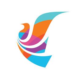 Flight bird - concept logo template vector