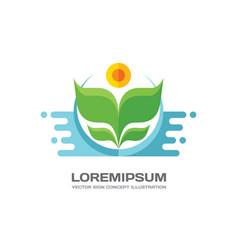 flower - logo in flat style design flower vector image