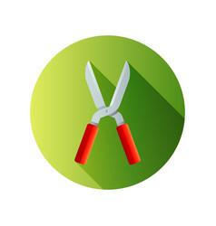 Garden shears for hacking shrubs farm and vector
