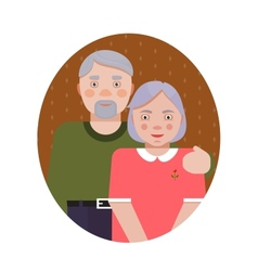 Grandparents Portrait vector image