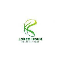 Green nature geometric logo template icon element vector