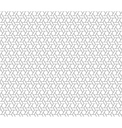 hexagon star seamless background vector image vector image