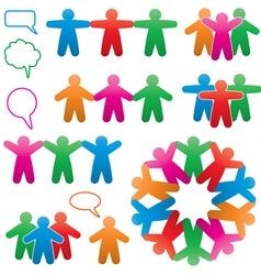human and speech symbols vector image vector image