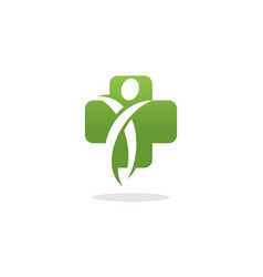 human medical cross logo vector image