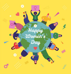 International womens day group womens with vector