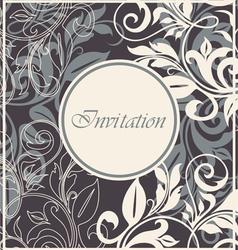 Invitation floral card vector image