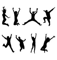 jumping and flying vector image