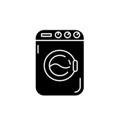 Laundromat black glyph icon vector
