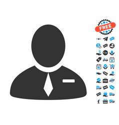 Lawyer icon with free bonus vector