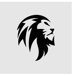 lion head - sign concept vector image
