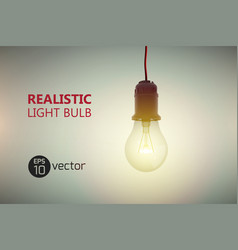 luminant light bulb background vector image