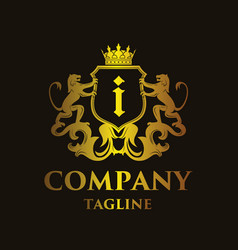 Luxury letter i logo vector